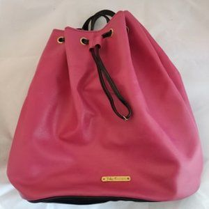 Juicy Couture Pink Pouch Drawstring Backpack